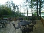 View of lake from on-site bar/grill deck