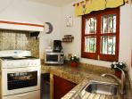 Kitchen overlooking Banderas Bay. On same level as dining/living room Cooking never looked so good!