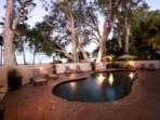 Swimming pool BBQ area