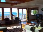 Looking west at the Pacific  from our Living & Dining Rooms on a sunny New Years Weekend.