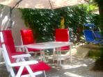 The Morells - Garden terrace