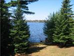 View of Chain Lake from the Deck - Navigate all 5 of the Sugar Camp Chain Lakes by boat