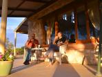 The verandah....spectacular views and a lovely spot for relaxing and watching the sunset