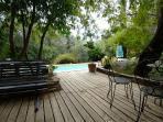 Terrace near saltwater swimming pool