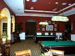 Games and pool room.