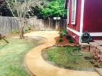 Backyard. Newly landscaped