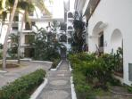 Path way leading to the condo and pool area then the beaches of Nuevo Vallarta Nayarit