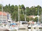 Yachts in Mortagne port
