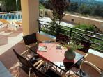 Villa STEFANOS: covered veranda, panoramic view