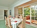 Dining area  - breakfast overlooking the gardens