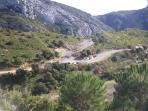 Road up la Sainte-Baume