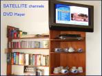 TV satellite channels DVD player