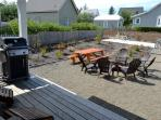 BBQ, private fire pit, picnic table