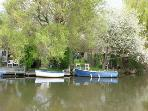 River Wey, a few minutes walk from Medlar House.