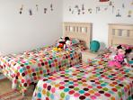 Mickey bedroom with brightly coloured kids bedroom