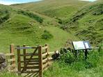 One of the Pennine walks in the fells above Melmerby, one of the designated AONB's in England