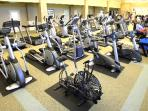 In case of rain...you have access to the state-of-the art fitness center (activity fee)