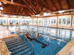 Access INCLUDED to the Lake House indoor/heated pool and locker room showers (activiity fee)