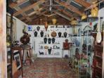 Inside Behr Art Gallery, representing many local artisans