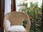 Balcony to the orange trees