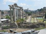 An unforgettable view of the Roman Forum;see this on your day trip in to Rome.