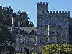 Visit Hatley Castle at nearby Royal Roads University- just a 15 min walk thru the forested trails.