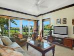 F301 Living Room with Ocean and Garden View