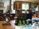 A collage of interior shots