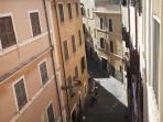 View of Vicolo del Bologna from the living room