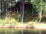 view from lake of cabin