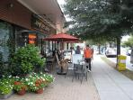 Palisades Village shops & outdoor seating