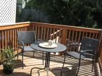 Private deck with seating