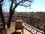 This is the deck looking over the African bush and into Kruger Park in the distance