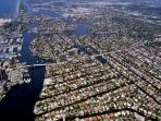 Sky view of Fort Lauderdale and Las Olas Isles