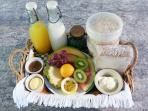 Complimentary daily breakfast basket