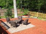 Backyard with Patio and Fire pit furiture