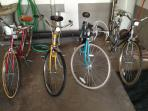 Four bikes available for usage