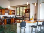 Full Equipped Modern Kitchen with Wrap Around Breakfast Bar