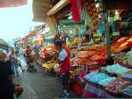 Carmel market acorss the street ...