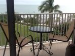 Private balcony with full view of the beach & Gulf