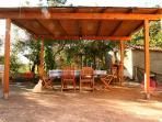 Covered Patio for outdoor dinning