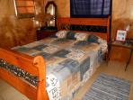 The bedroom/queen bed
