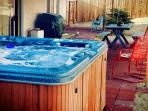 Outdoor living, hot tub and 2 patios