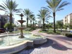 Fountain / walkway to clubhouse