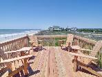 Party deck on the dune