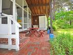 outdoor patio with grill and dining area, The Pine Suite, Cottage Guest