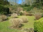 Part of the terraced gardens in Winter