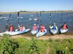 Kayaking Lake Wanahoo is great fun!