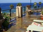 Deck fountains and beautiful sounds of the surf
