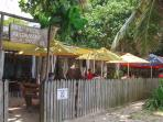 The infamous Kaz Kreol restaurant on Anse Royale beach!